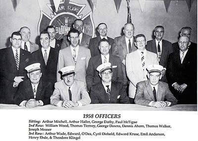 Grand Island Fire Company 1958 Officers